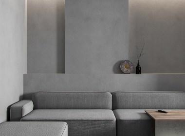 68.2平方米专为热爱简约和灰色的家庭而设计·NEEN DESIGN