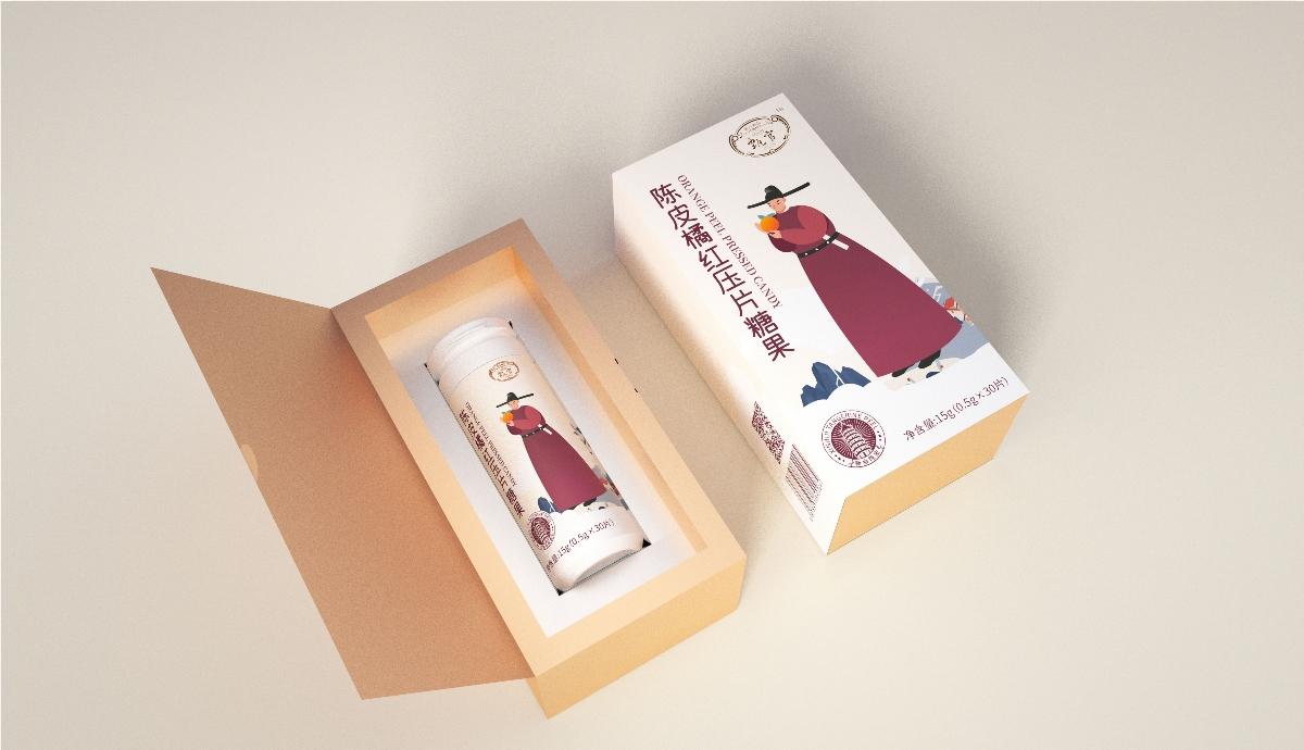 甄官陈皮压片糖果包装设计【圣智扬包装设计】