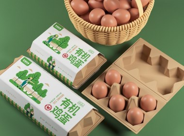 有机蛋包装设计©刘益铭 原创作品