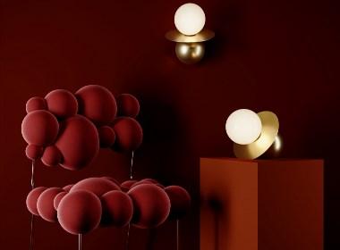 Reginaldi Table lamp and wall lamp.
