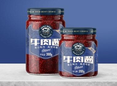 农产品牛肉酱品牌系列包装设计|摩尼视觉原创