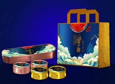 来自深海的《鲁西鲟鱼子酱》高档礼品包装设计-黑森林品牌设计