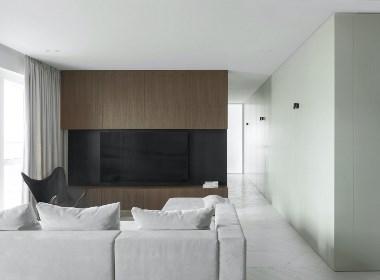 NEEN DESIGN:极简风85²公寓呈现自然性和相互之间的微妙关系