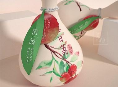 青柚设计 x 日系青梅酒丨果酒包装设计