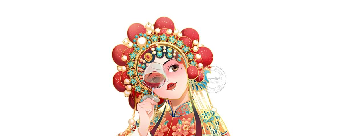 王朝酒業 × 古一設計|更年輕、更國潮的朝天嬌玫瑰露酒包裝設計