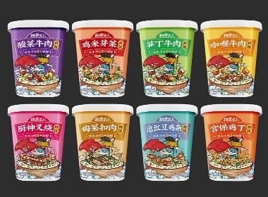 挑食達人系列食品插畫包裝設計/拌飯/米線/冷面/土豆粉