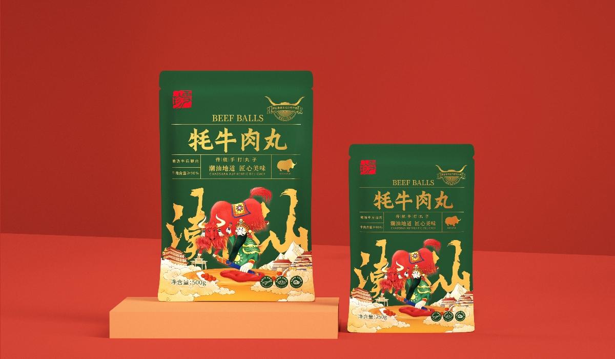 圣智扬作品&食品包装设计 珍雪牦牛肉丸包装设计——潮汕地道手打丸子