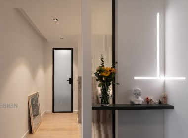 65㎡两房改造,卫生间实现豪宅配置四分离,玩转高级灰