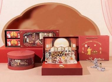 【方森园】国风中秋月饼礼盒包装设计——《月礼盛唐》