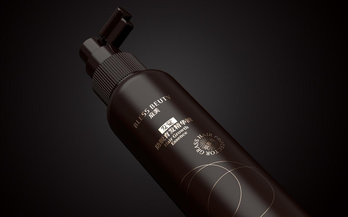庇美防脱洗发水包装设计