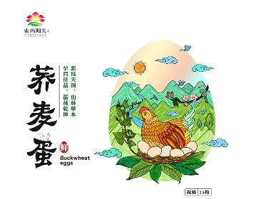鸡蛋包装设计,鸡蛋礼盒包装设计,插画包装设计,高档鸡蛋包装设计