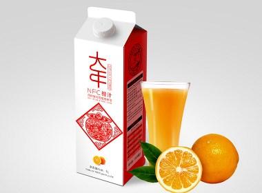 果汁包装设计 果汁设计 包装设计 字体设计 插画设计