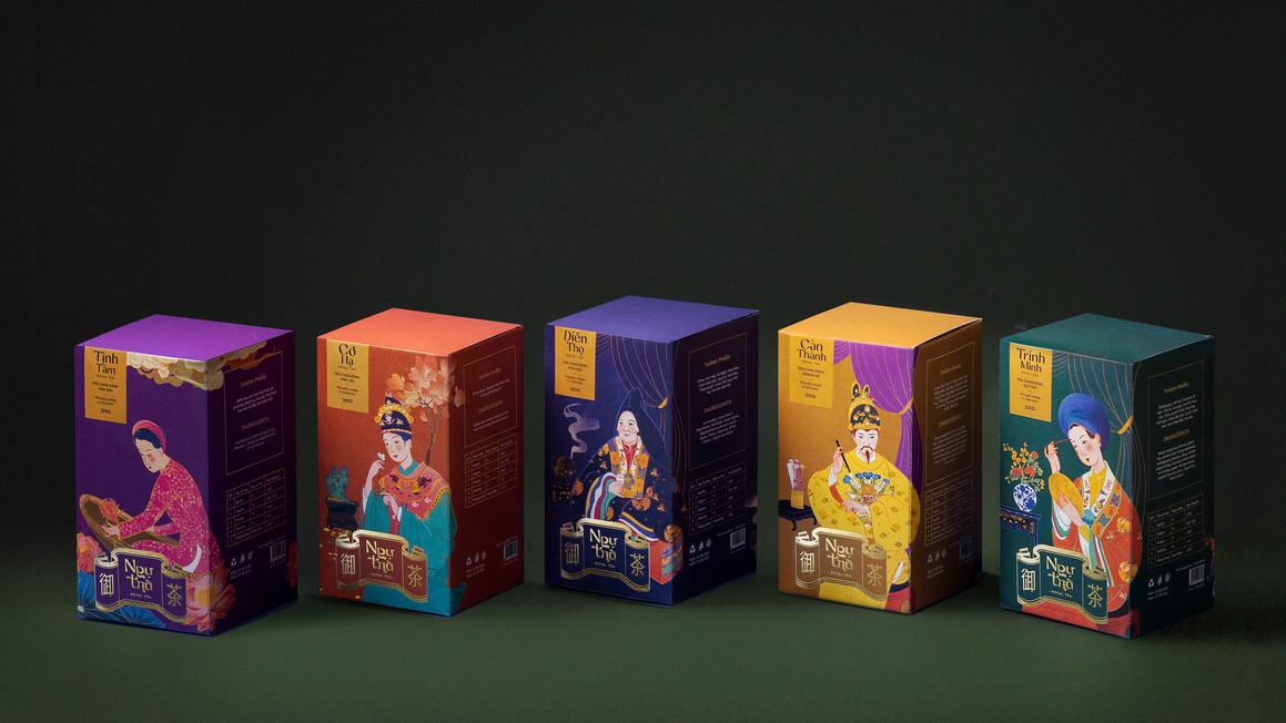 品牌色彩插圖包裝設計