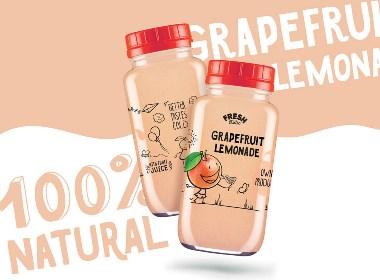 可愛的果汁包裝設計