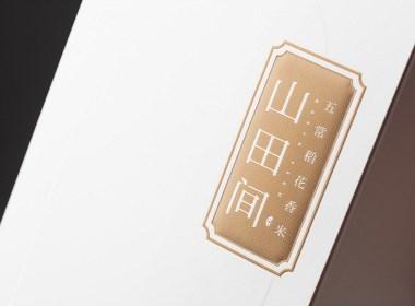 五常稻花香精米插畫外包裝設計