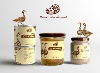 食品母雞標簽標志品牌設計