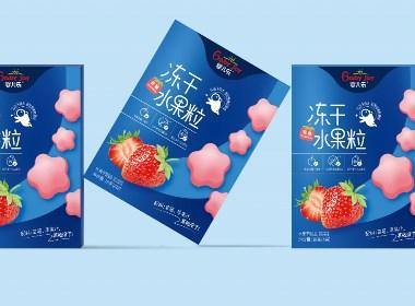 冻干水果粒包装 溶豆包装设计 山东辅食老品牌 食品包装