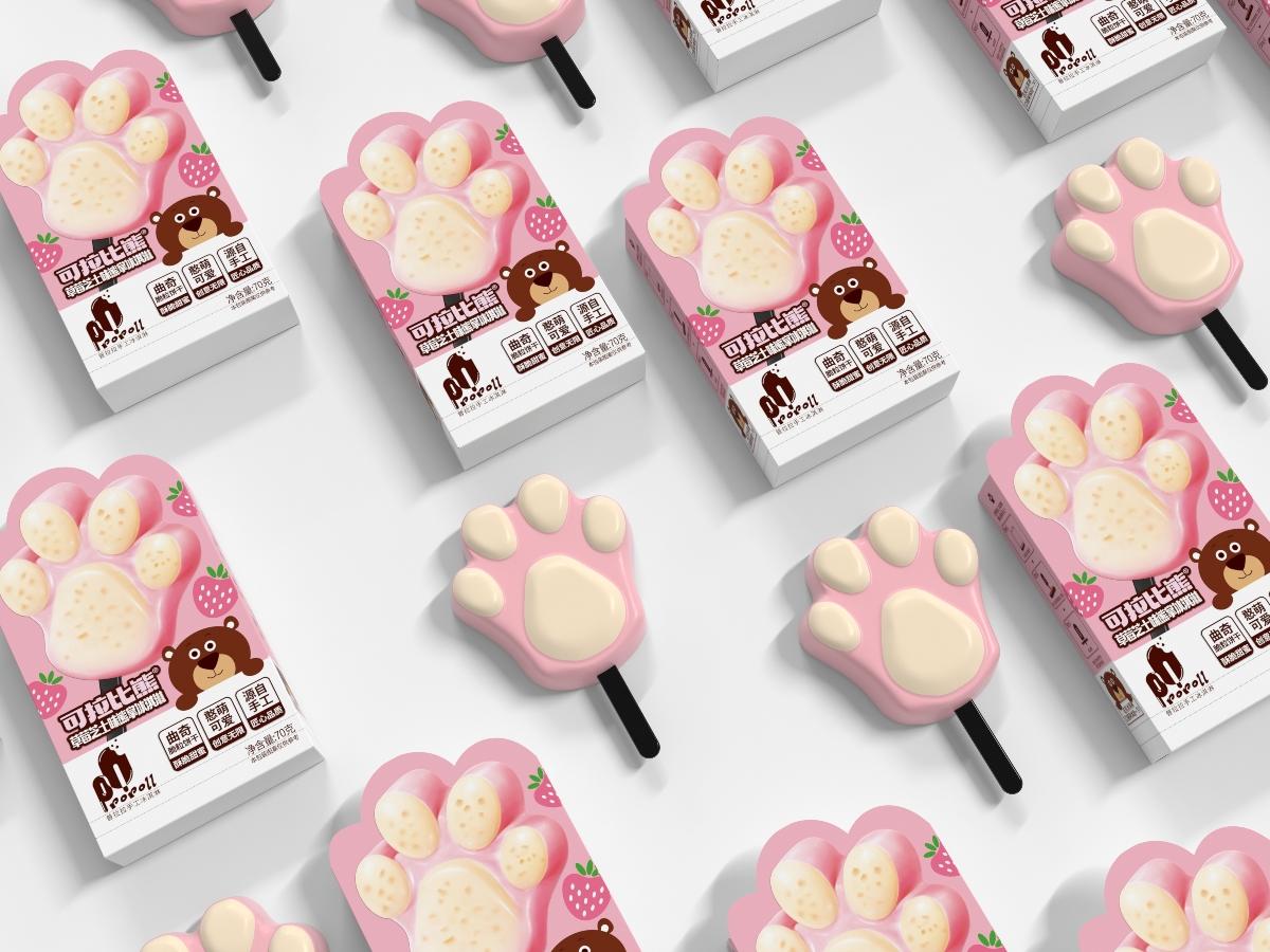 普拉拉手工冰淇淋-品牌包装设计