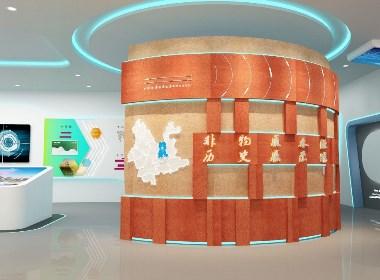 【三维效果图】追赤视觉展厅设计案例