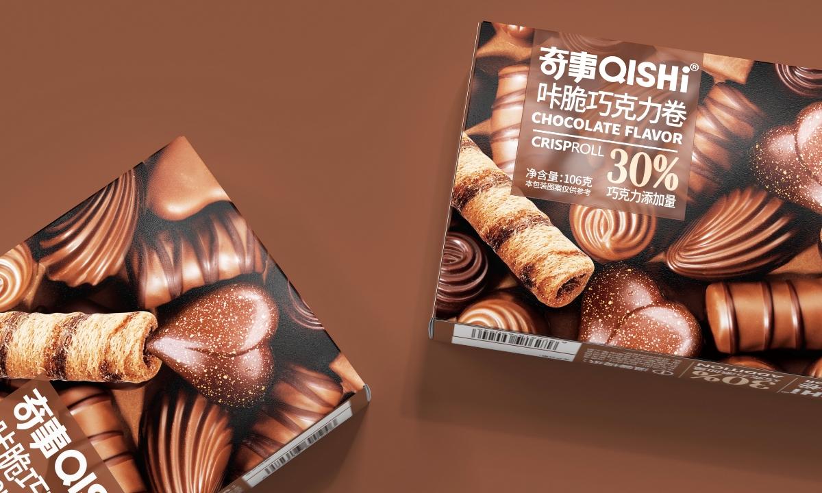 奇事卡脆蛋卷-品牌包装设计