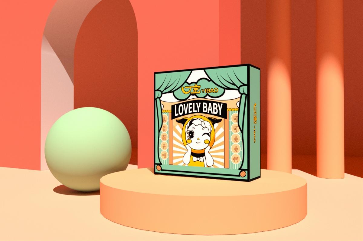 盲盒一寶形象設計