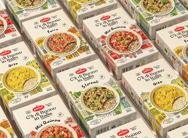 盒式谷物食品包裝設計