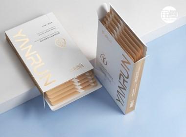 面膜包装设计 妍润玻尿酸植萃补水面膜©刘益铭 原创作品