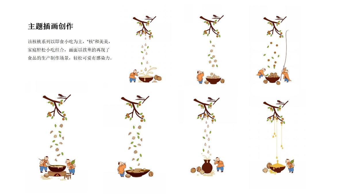 核桃产品系列包装 | 臻粮王.秦岭特产包装设计