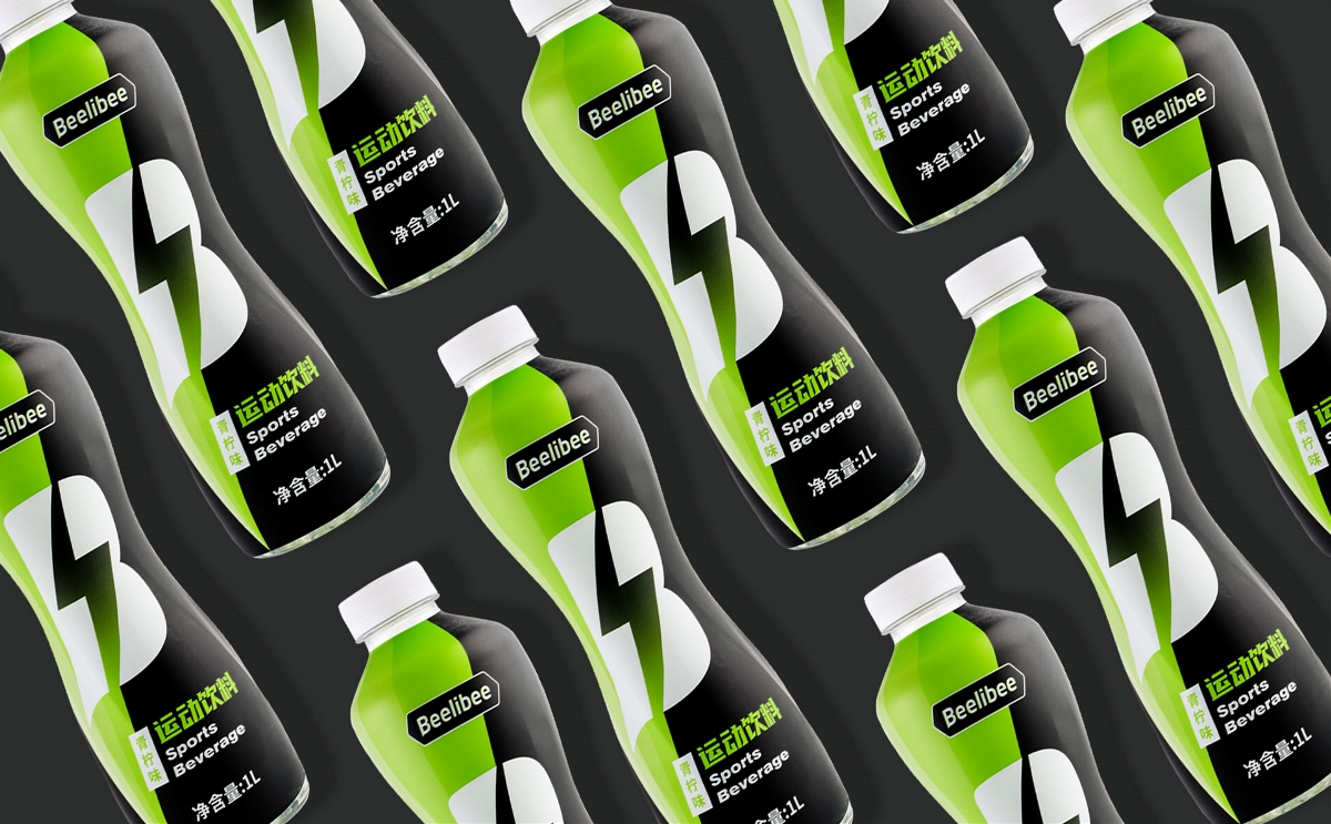 beelibee青柠味运动饮料包装设计