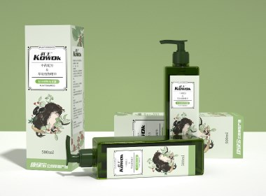 丨包装设计丨康绿宝-KOWOK植物洗发水包装设计2