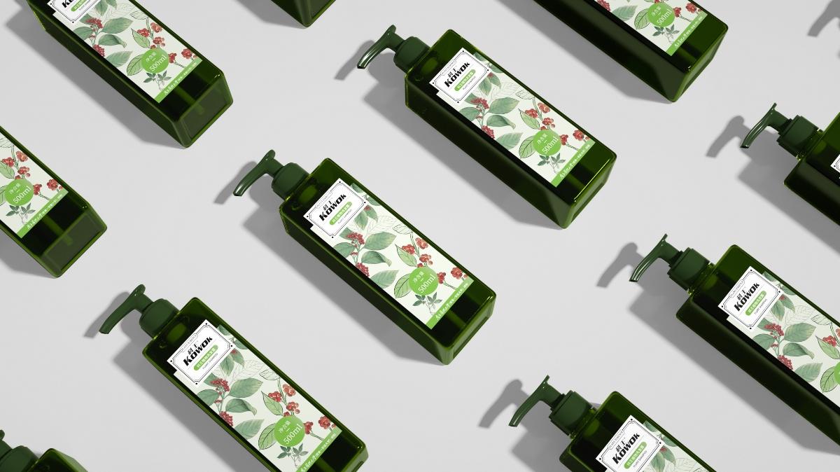丨包装设计丨康绿宝-KOWOK植物洗发水包装设计