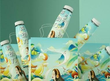 水果味插画手绘卡通人物形象 插画 护嗓类包装LOGO