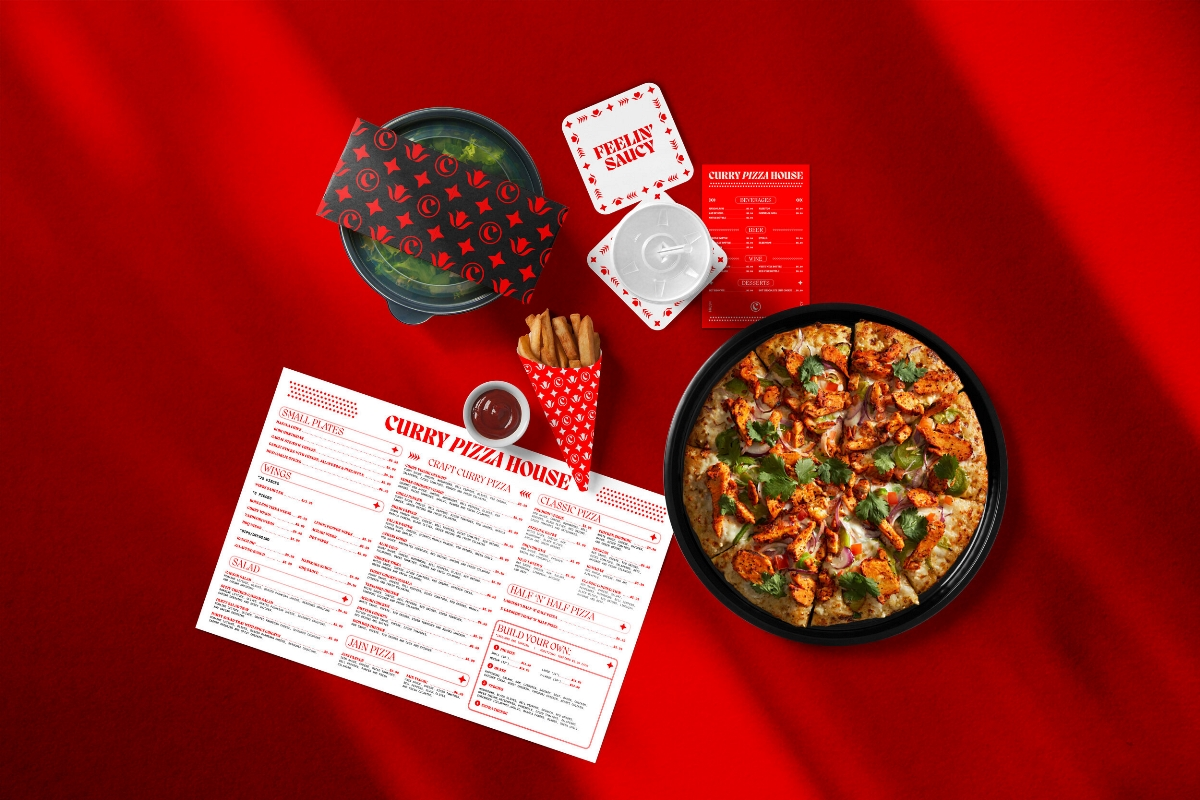 Curry Pizza House比萨餐厅品牌VI设计