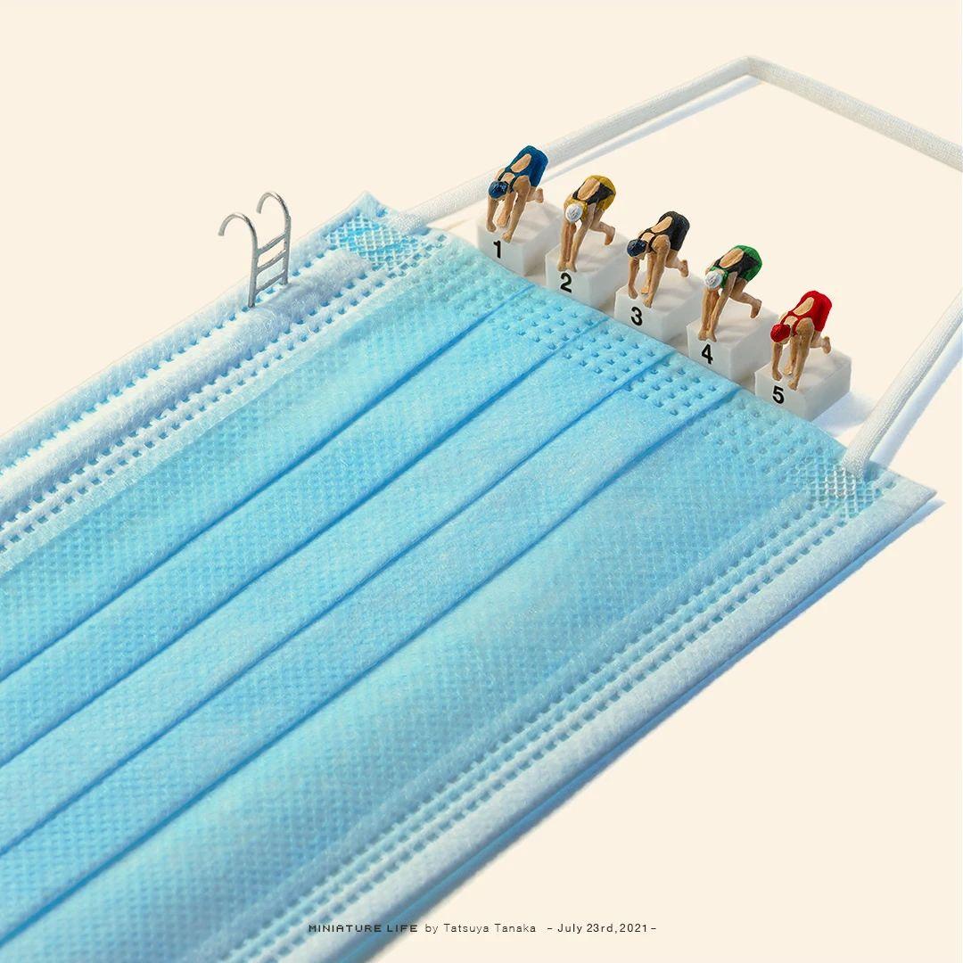 田中達也 Tanaka Tatsuya:疫情下的東京奧運會創意作品