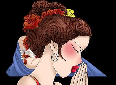 巨灵设计:云南民族少女插画设计