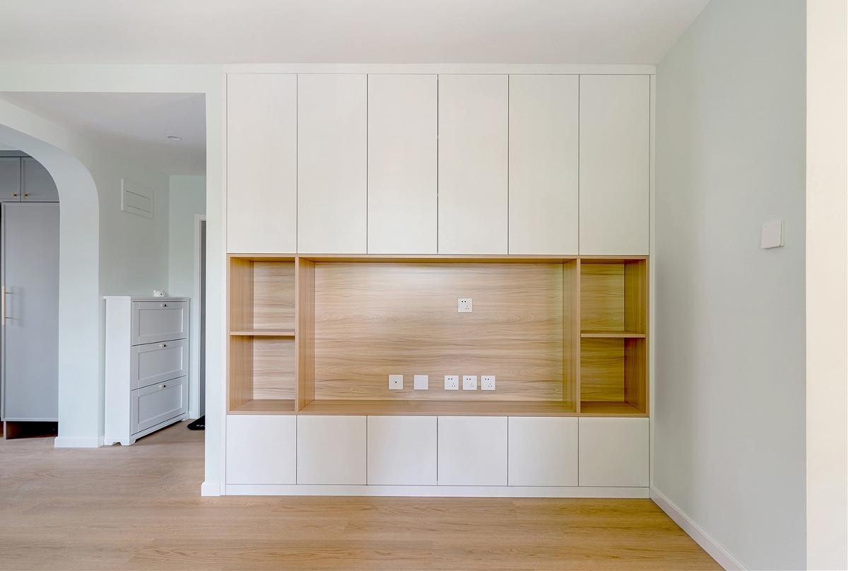 「久栖设计」家有两娃,拥有超强收纳空间的75平米治愈系空间