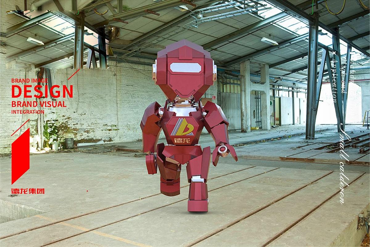钢铁集团企业的IP卡通形象吉祥物手办设计