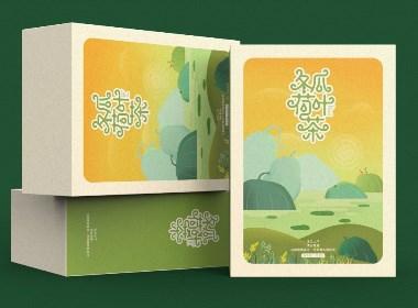 冬瓜荷葉茶字體及包裝設計