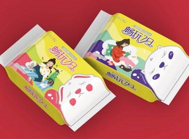 桃之屋衛生巾標志及包裝設計 ?