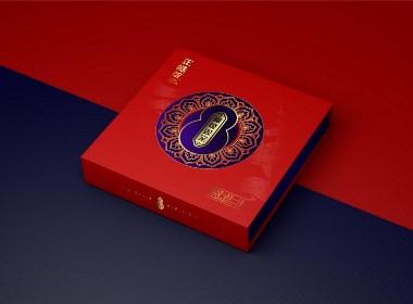 福禄双全普洱茶包装礼盒插画设计(仅供展示,请以实物为准)