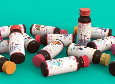禾遇記膠原蛋白果汁飲品包裝設計