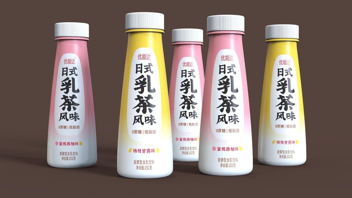 优能达日式乳茶包装设计