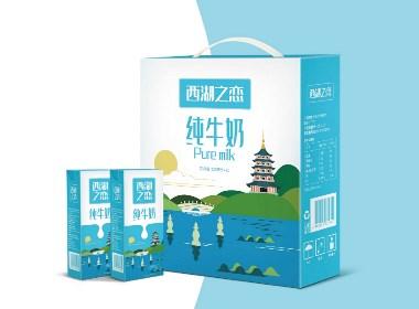 西湖之恋牛奶包装设计