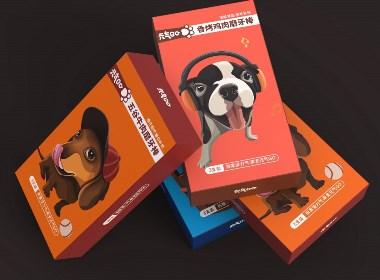 元氣GO寵物磨牙棒卡通插畫包裝設計