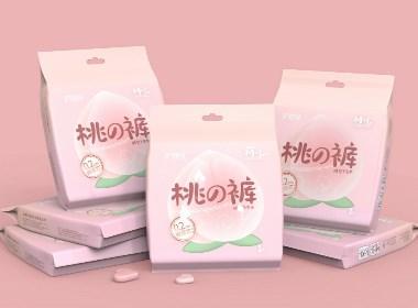 護理佳桃の褲褲型衛生巾包裝設計