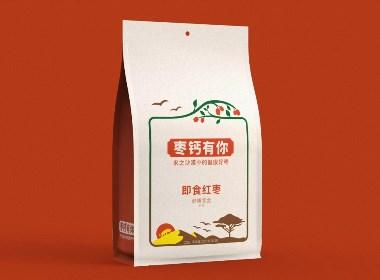 棗鈣有你沙漠紅棗包裝設計