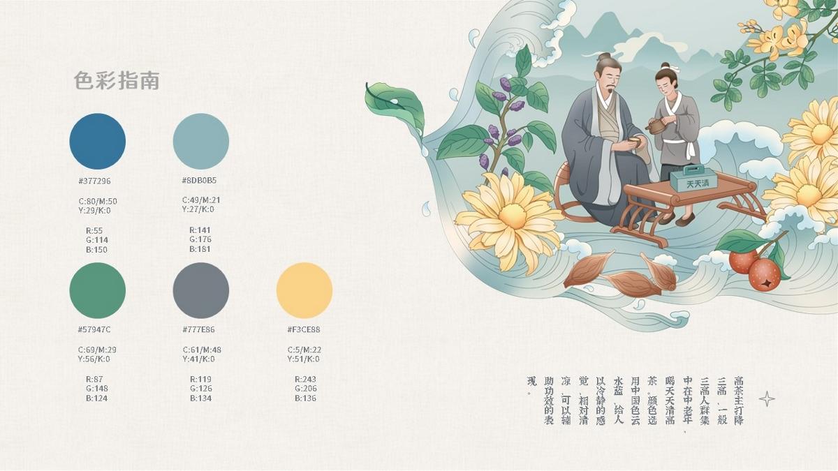 天天清X橘貓-草本茶系列包裝設計第二彈