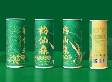 鹤先森-植物饮品包装设计案例