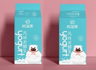 悦来悦喜-超市-悦滋源-风味发酵乳包装设计案例