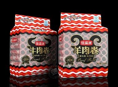 西安四喜包装设计公司:牛羊肉卷包装设计